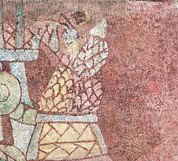 A) Pintura mural de Zacuala, Teotihuacan.