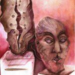 Historia del ojo, 2012, tinta y acuarela sobre papel, 35 x 26 cm