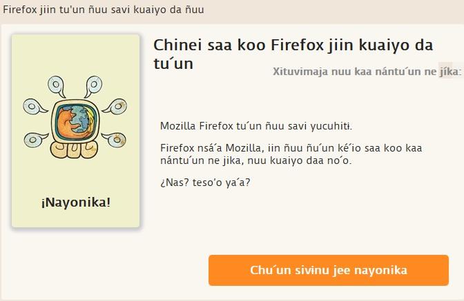 Firefox en Mixteco del suroeste – versión piloto