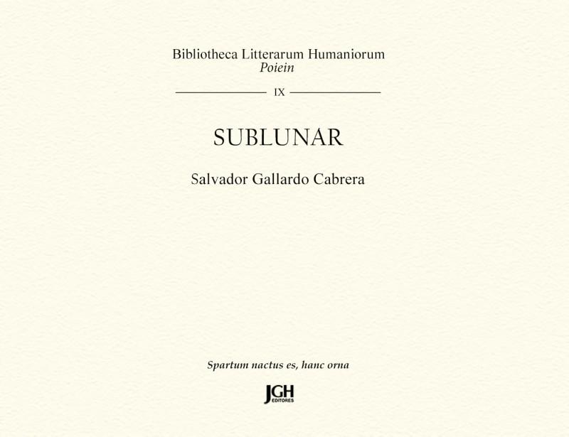 Portada Sublunar (libro de Salvador Gallardo Cabrera)